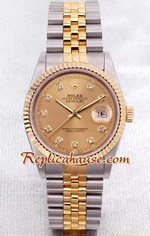 Rolex DateJust Two Tone Mens 1