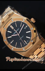 Audemars Piguet Royal Oak Rose Gold Ultimate Swiss Watch 17