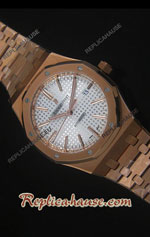 Audemars Piguet Royal Oak Rose Gold Ultimate Swiss Watch 18