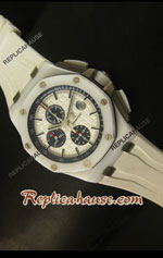 Audemars Piguet Royal Oak Offshore White Ceramic Swiss Watch 14
