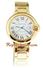 Ballon Blue De Cartier Yellow Gold Replica Watch 4