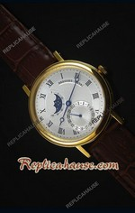 Breguet Classique Moonphase Yellow Gold Swiss Replica Watch 03