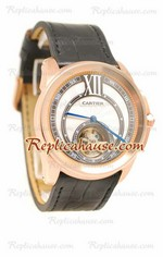 Calibre de Cartier Flying Tourbillon Replica Watch 02