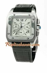 Cartier Santos 100 Chronograph Japanese Watch 01