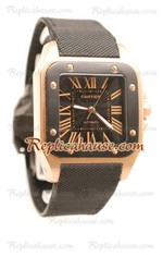Cartier Santos 100 Carbon Swiss Watch 02
