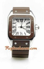 Cartier Santos 100 Swiss Replica Watch Ladies 9