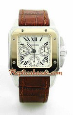 Cartier Santos 100 Swiss Replica Watch 2