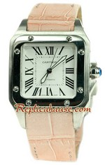 Cartier Santos 100 Swiss Mid Sized Watch 01
