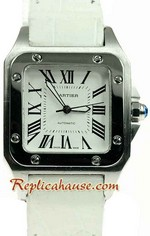 Cartier Santos 100 Swiss Mid Sized Watch 02