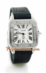 Cartier Santos 100 Swiss Replica Watch 4