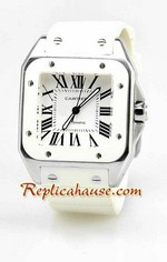 Cartier Santos 100 Swiss Replica Watch 7