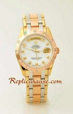 Rolex Replica Day Date Three Tone Watch 3