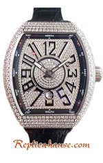 Franck Muller Vanguard Diamonds Swiss Replica Watch 04