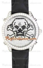 Jacob & Co. The Five Time Zone Skeleton Swarovski Dial Replica Watch 02