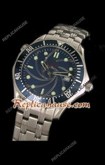 Omega Seamaster 007 Blue Dial Swiss Watch 13