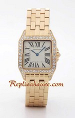 Cartier Santos Demioselle Replica Watch Gold Mens