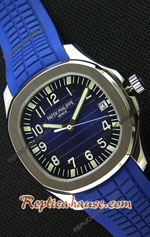 Patek Philippe Aquanaut Blue Swiss Watch 17