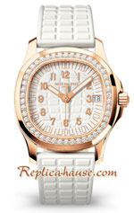 Patek Philippe Luce Gold Diamond White Ladies First Swiss Watch 16
