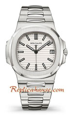 Patek Philippe White Nautilus 2019 Swiss Replica Watch 03