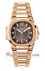 Patek Philippe Nautilus Rose Gold Ladies 2018 Swiss Replica Watch 08