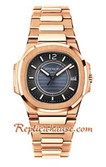 Patek Philippe Nautilus Rose Gold Ladies 2018 Swiss Replica Watch 09