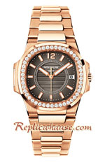 Patek Philippe Nautilus Rose Gold Ladies 2018 Swiss Replica Watch 11