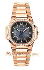 Patek Philippe Nautilus Rose Gold Ladies 2018 Swiss Replica Watch 12
