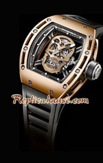 Richard Mille RM052 Tourbillon Skull Gold Watchs 4
