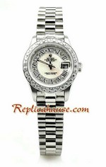 Rolex Replica Datejust Silver Ladies Watch 01