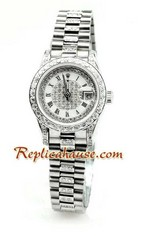 Rolex Replica Datejust Silver Ladies Watch 02