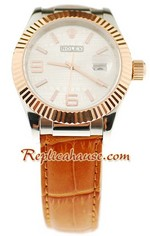 Rolex Datejust Leather Replica Watch 4