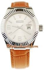 Rolex Datejust Leather Replica Watch 6