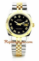 Rolex Replica Datejust Two Tone Watch 01