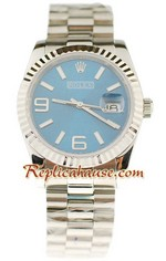 Rolex Replica Datejust Silver Watch 17
