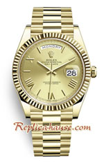Rolex Day Date 2017 Gold Swiss Watch 7