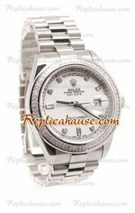 Rolex Replica Day Date Silver Swiss Watch 16