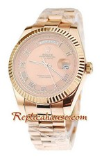 Rolex Replica Day Date Pink Gold Swiss Watch 1
