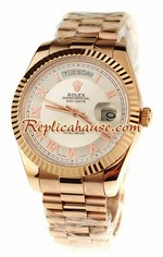 Rolex Replica Day Date Pink Gold Swiss Watch 2