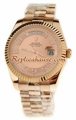 Rolex Replica Day Date Pink Gold Swiss Watch 3