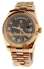 Rolex Replica Day Date Pink Gold Swiss Watch 7