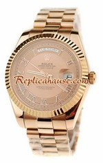 Rolex Replica Day Date Pink Gold Swiss Watch 8