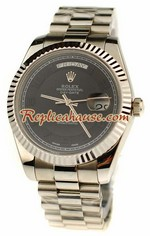 Rolex Replica Day Date Silver Swiss Watch 17