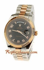 Rolex Replica Day Date Two Tone Swiss Watch 12