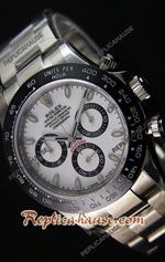 Rolex Replica Daytona White Super Swiss Watch 24