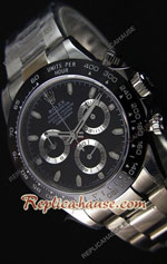 Rolex Replica Daytona Black Super Swiss Watch 25
