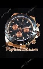 Rolex Daytona Everose Rose Gold Black Dial Swiss Watch 22