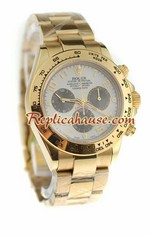 Rolex Replica Daytona Gold Swiss Watch 10