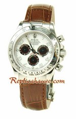 Rolex Replica Daytona Swiss Leather Watch 02