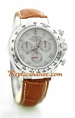 Rolex Replica Daytona Swiss Leather Watch 1<font color=red>หมดชั่วคราว</font>