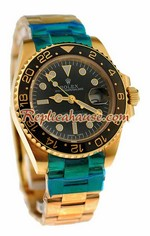 Rolex Replica Gold GMT Masters II Watch 08